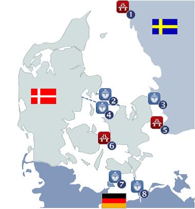 Kaart tol Scandinavië
